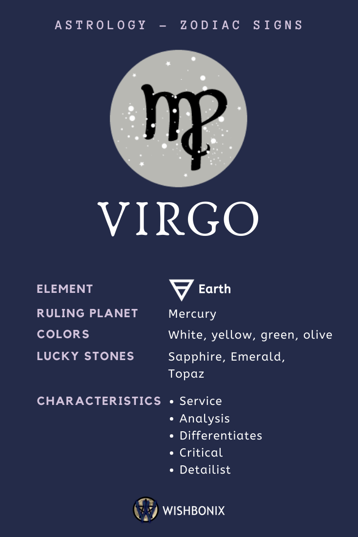 Virgo Zodiac Sign - The Properties and Characteristics of the Virgo Sun Sign