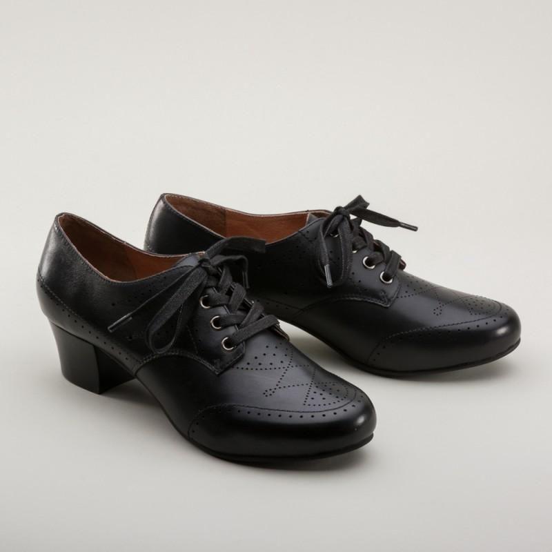 Claire 1940s Oxfords In Black Sold Out Dress Shoes Men Vintage Shoes Vintage Style Shoes