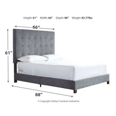 Best Queen Dolante Upholstered Bed Gray Signature Design By 400 x 300