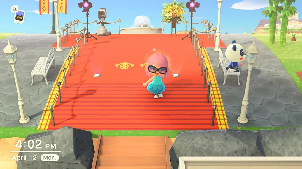 Grand Entrance / Red Carpet : ACQR in 2020   Animal ... on Animal Crossing New Horizons Wood Design  id=17020