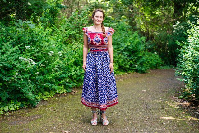 Genäht – Rückenfreies Kleid aus einem Sari › Anleitungen, Do it ...