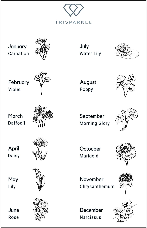 Personalized Birth Flower Ring  Custom Dainty Ring  Everyday | Etsy