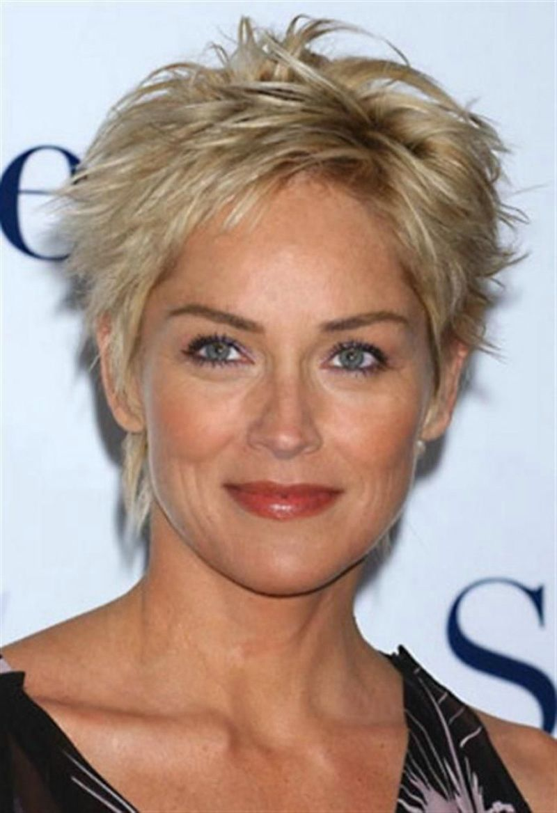 Sharon stone spiky short haircut for older women over 50 getty images - Short Spiky Messy Hairstyles For Women Google Search