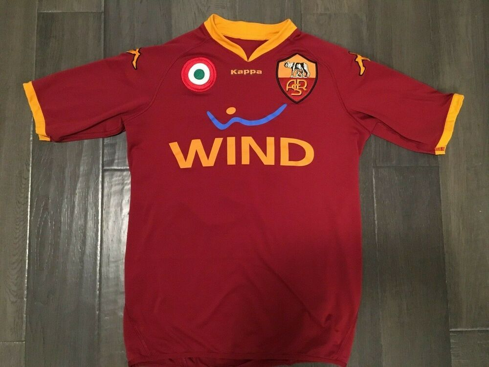 online retailer 7fdef a8fc0 VINTAGE AS Roma #10 TOTTI Home WIND Kappa Soccer KIDS JERSEY ...
