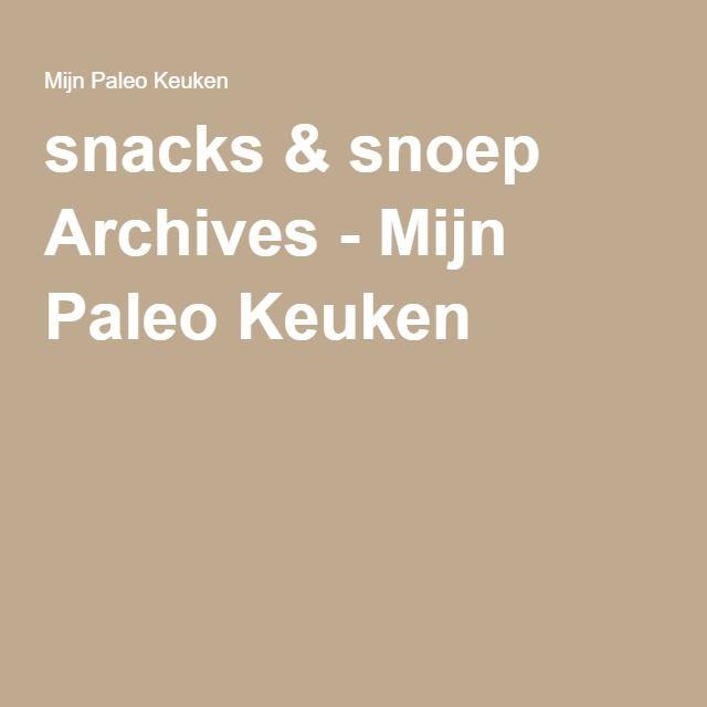 snacks & snoep Archives - Mijn Paleo Keuken