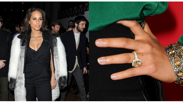 Alicia Keys engagement ring Eternal Sentiments Pinterest