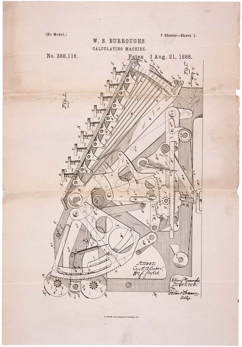 Pin By Kregg Phillips On Burroughs Adding Machine Patent