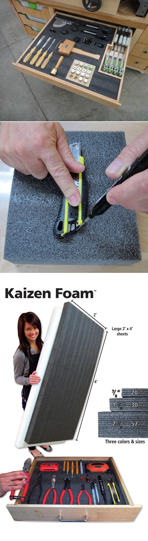 Kaizen Organization Foam http://www.fastcap.com/estore/pc/Kaizen-Foam-p13435.htm#!prettyPhoto