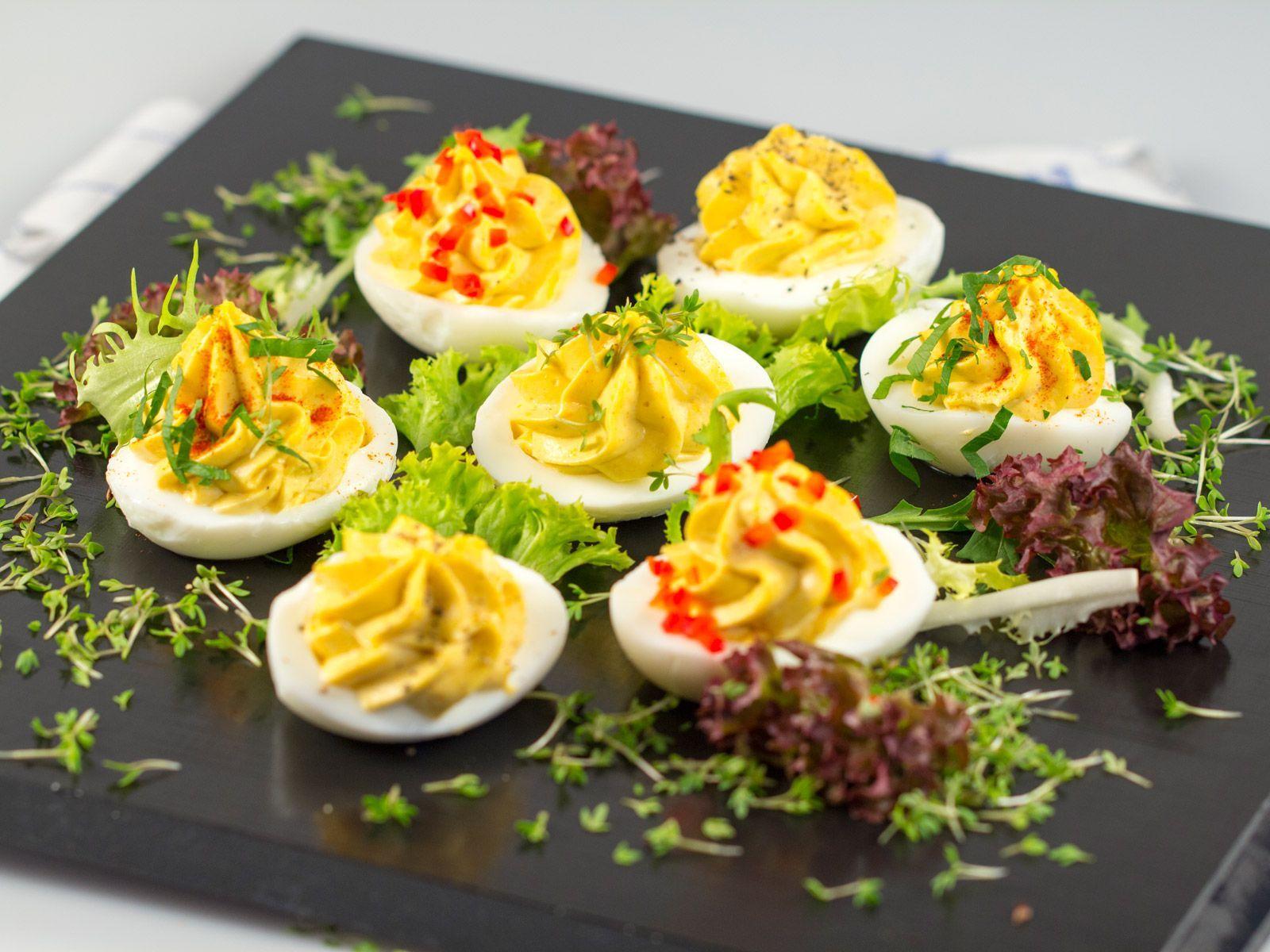 Gef llte eier rezept - Eier kochen zeit ...