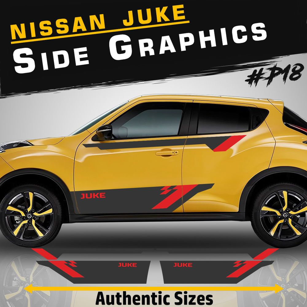 Nissan Juke Side Racing Stripes Car Stickers Decal Tuning Rally