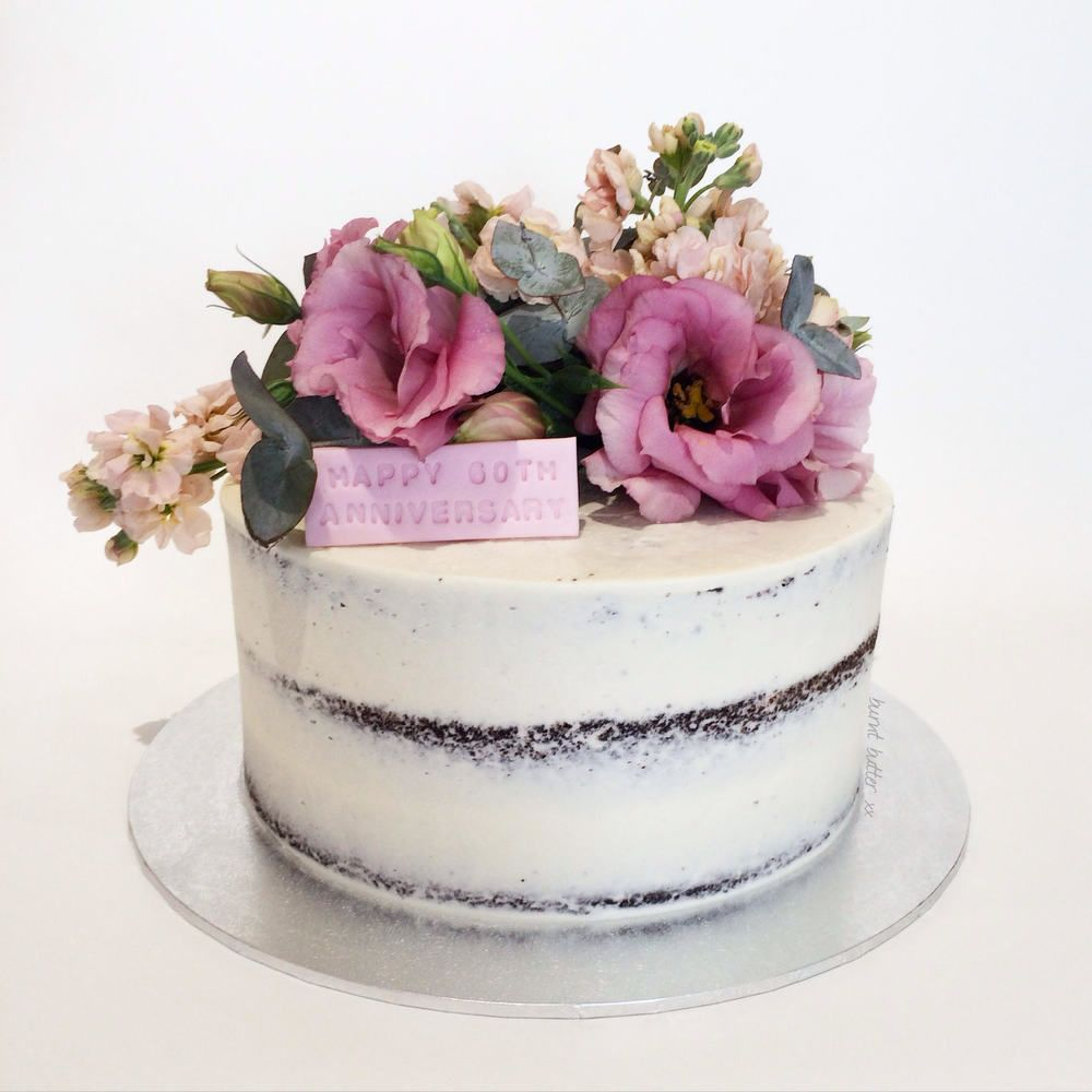 Mandy Floral Semi Naked Cake | Pinterest | Chocolate mud cake, White ...