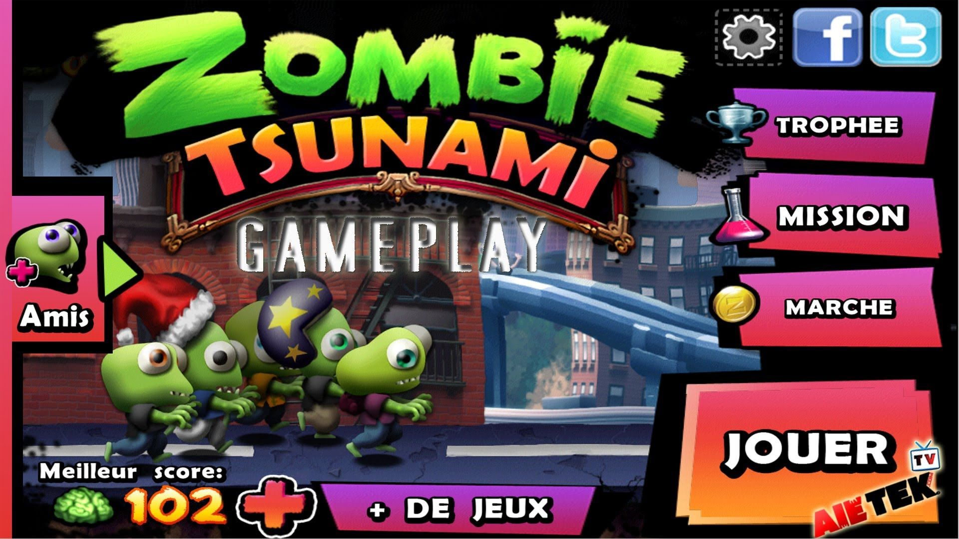 Zombie Tsunami The Zombies Are Revolting In Zombie Tsunami Take Your Place In A Crowd Of Rampaging Undead As You Race Thr Tsunami Tsunami Image New Zombie
