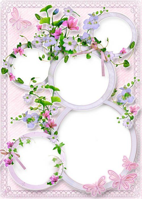 Flower Frame Collage Psd For Photoshop Free Photo Frame Psd