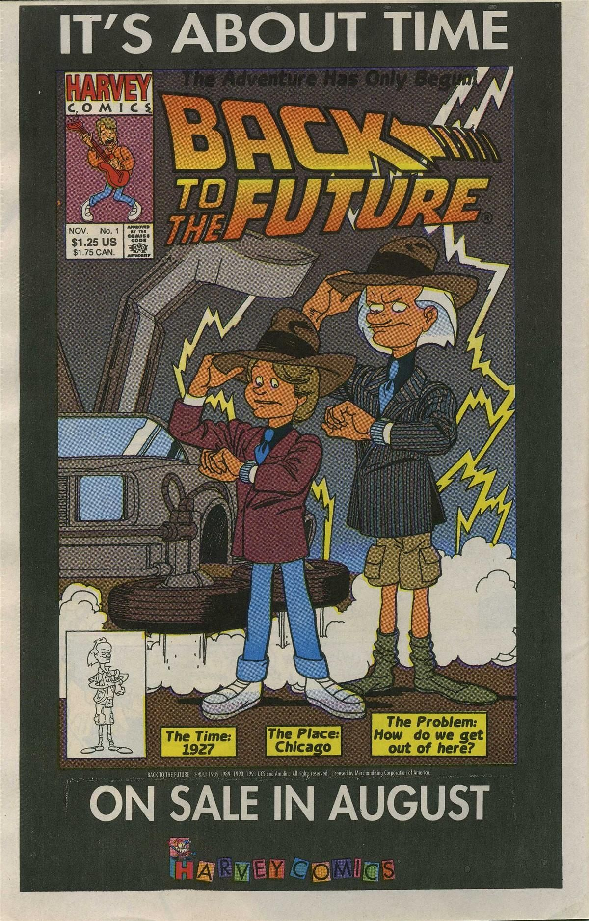BACK TO THE FUTURE COMICS (1991 series) adfrom Casper and