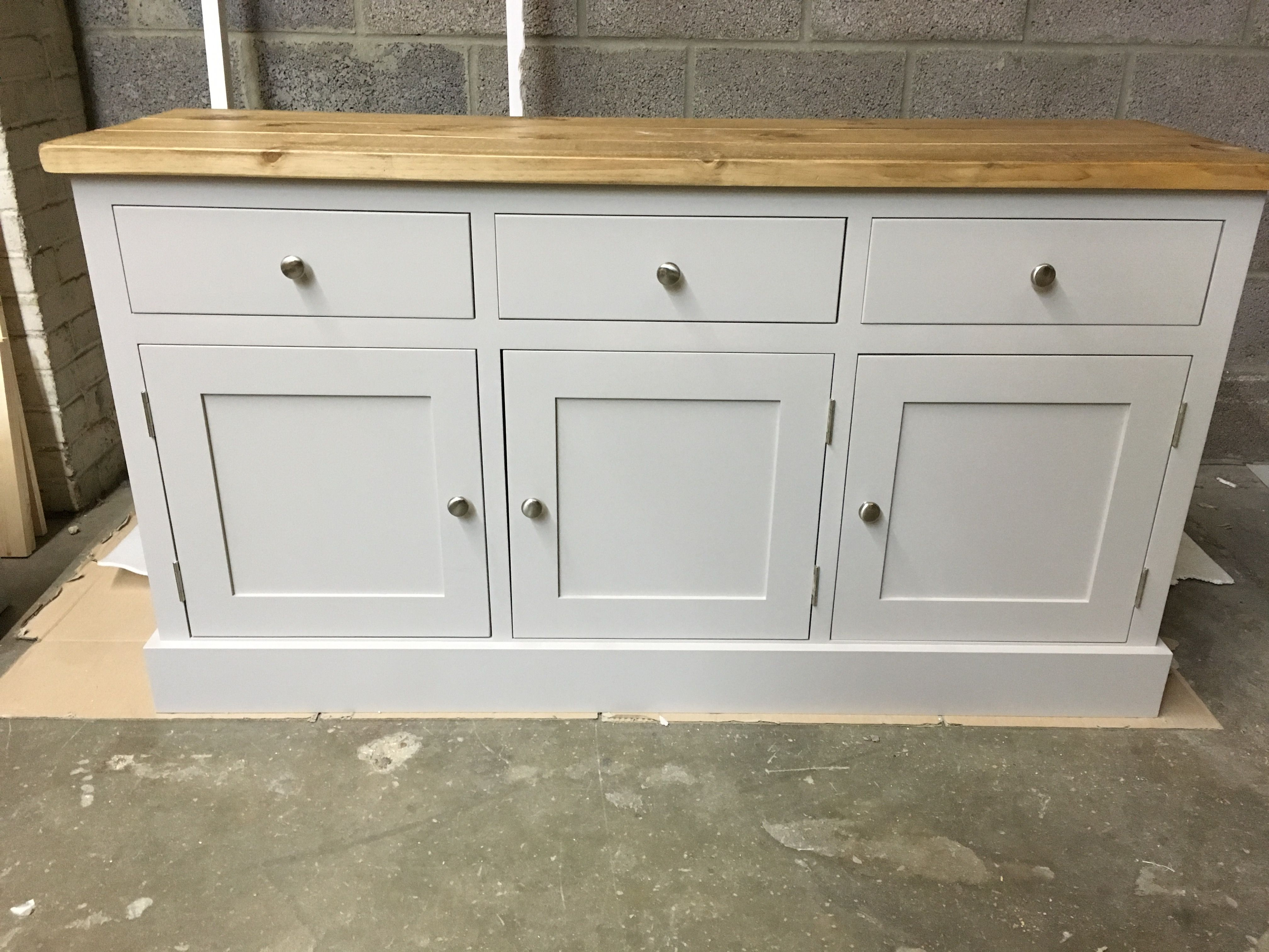 5 Sideboard Painted In F B New White With A Pine Top Can Be Made Any Size Or Painted Any Colour Cobwebs Furniture C White Sideboard Pine Furniture Furniture