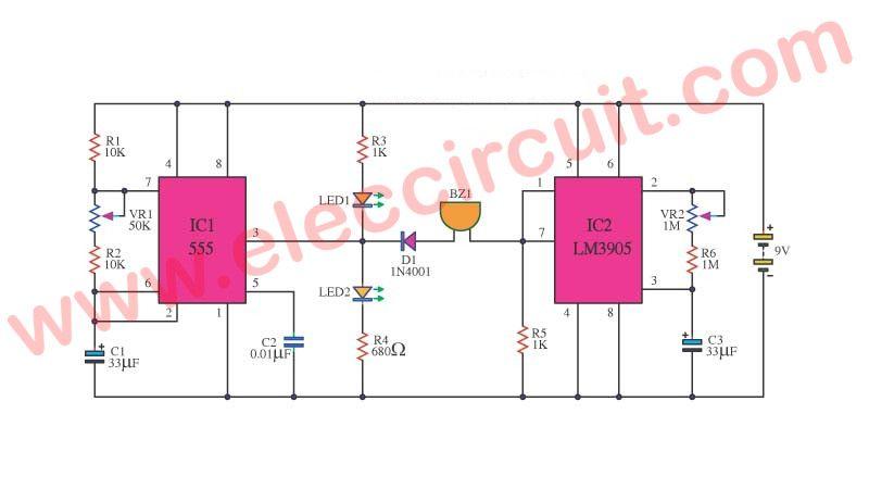 How Does Ne555 Timer Circuit Works Datasheet Pinout Eleccircuit Com Timer Circuit Countdown Timer
