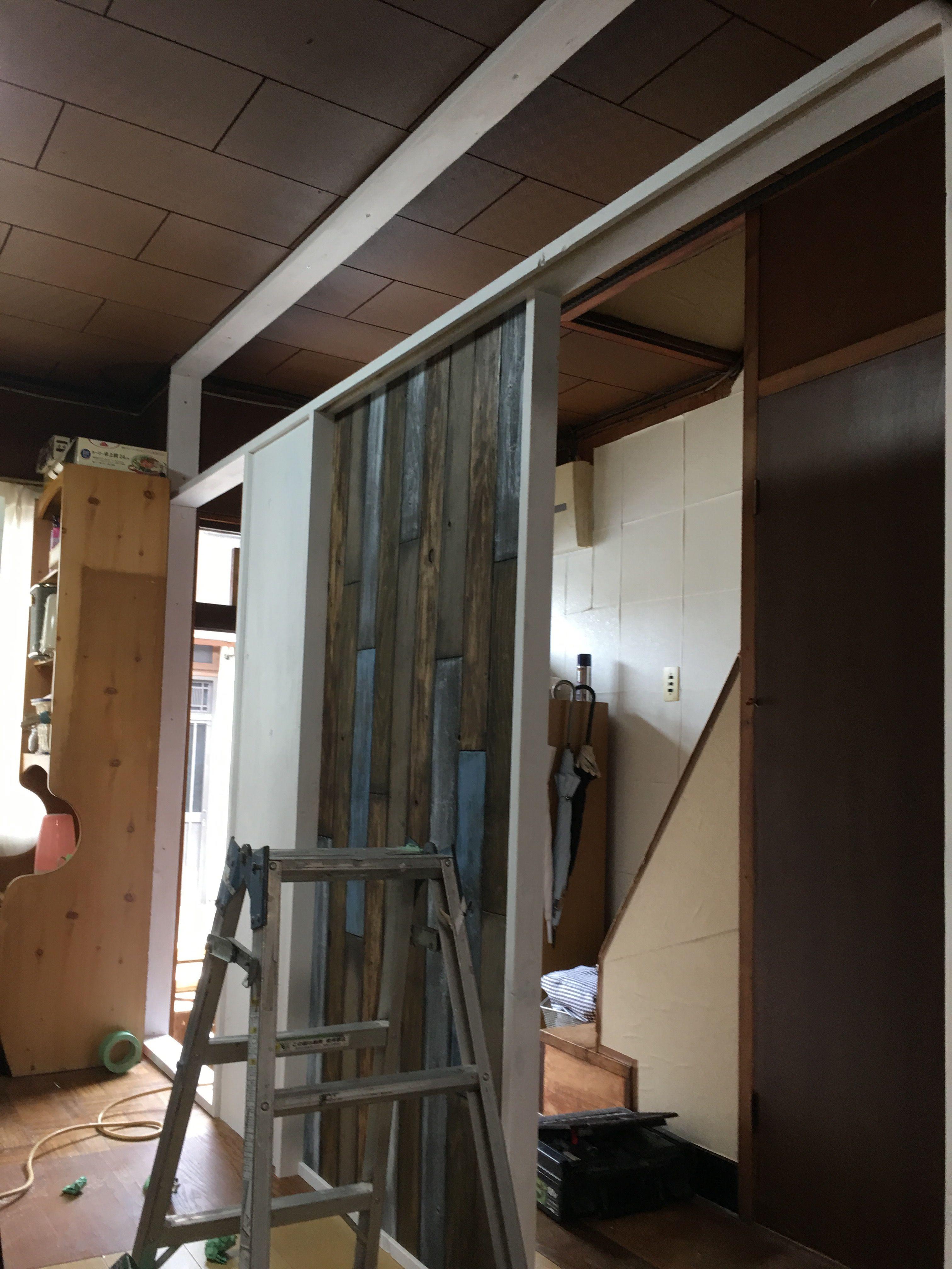 格安材料で作る Diy間仕切り壁part3 間仕切り壁 間仕切り 壁