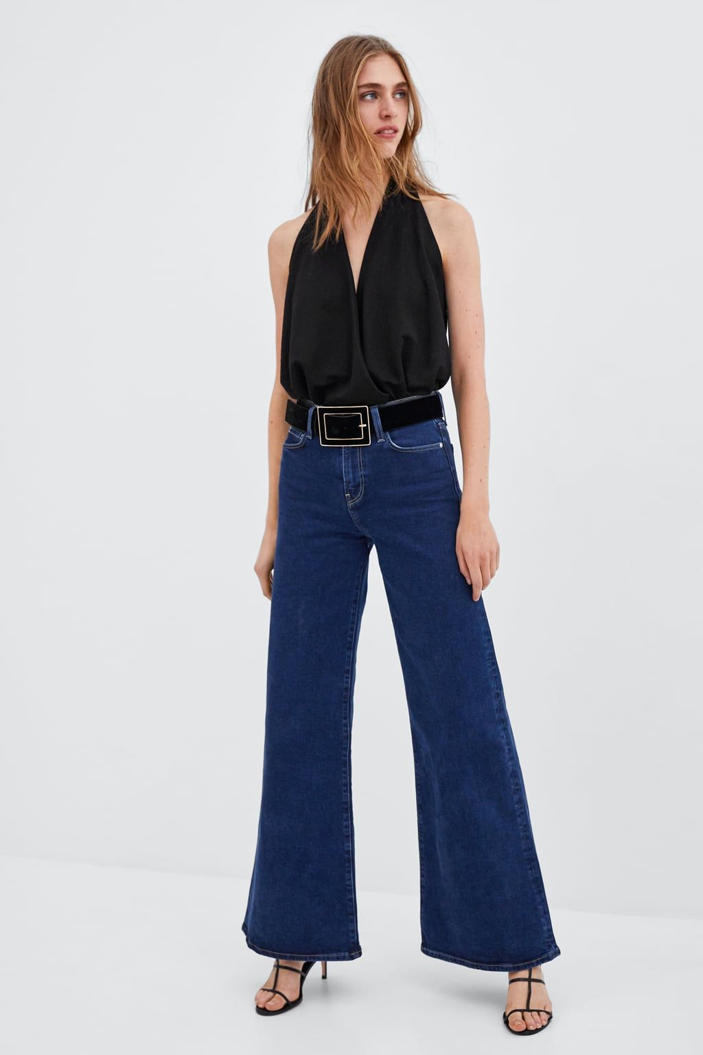 JEANS HI-RISE PALAZZO  Lässiges partyoutfit, Party outfit jeans