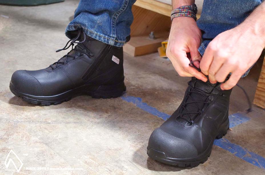 HAIX Bootstore Ems boots, Haix boots, Side zip boots
