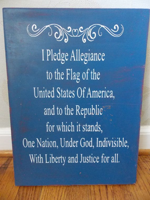 Pledge of Allegiance wood sign by IrisLaneDesigns on Etsy