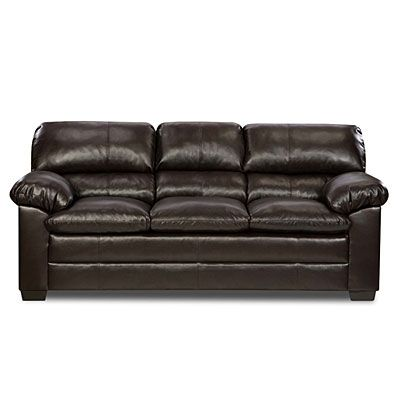 Simmons Harbortown Sofa At Big Lots Soft Leather Faux Leather Sofa Sofa Brown Leather Couch