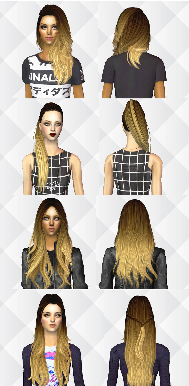 AlwaysSims: Ombre Hair Mini Pack | Sims 2 Downloads and ...