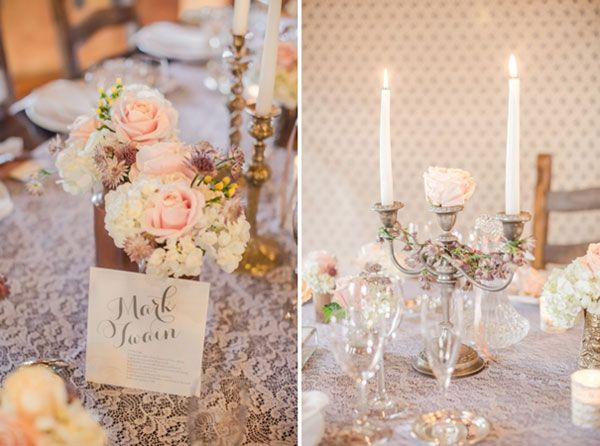 10.mariage,shabby,chic,decoration,de,table