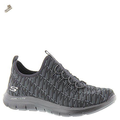 Ultra Flex-First Choice, Baskets Femme, Noir (Black/White), 38 EUSkechers