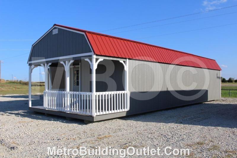 16x46 Lofted Barn Cabin Portable Storage Buildings Lofted Barn Cabin Built In Storage