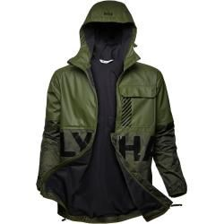 Helly Hansen Mens Active Hybrid Pu Rain Winterjacke Green Xl