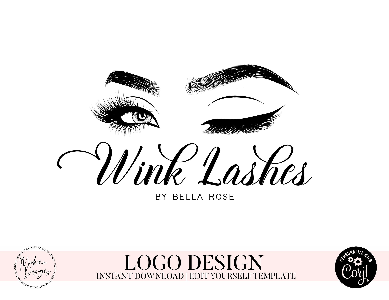 Lash Branding Set, Lash Logo Design, Eyelash Logo Design
