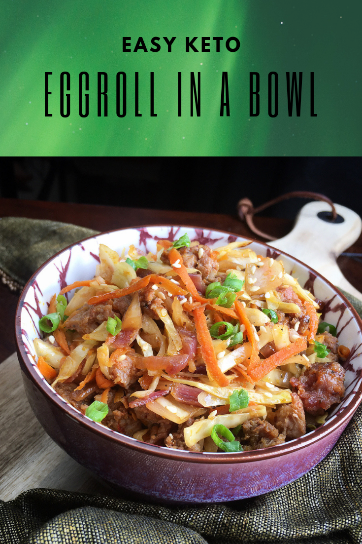 Eggroll in a Bowl #eggrollinabowl Easy Keto pork eggroll in a bowl. #eggrollinabowl