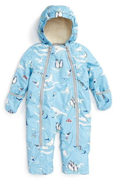 Daisy Blue Flower Print Snowsuit with Stormwear for Newborn Baby Toddlers Girls