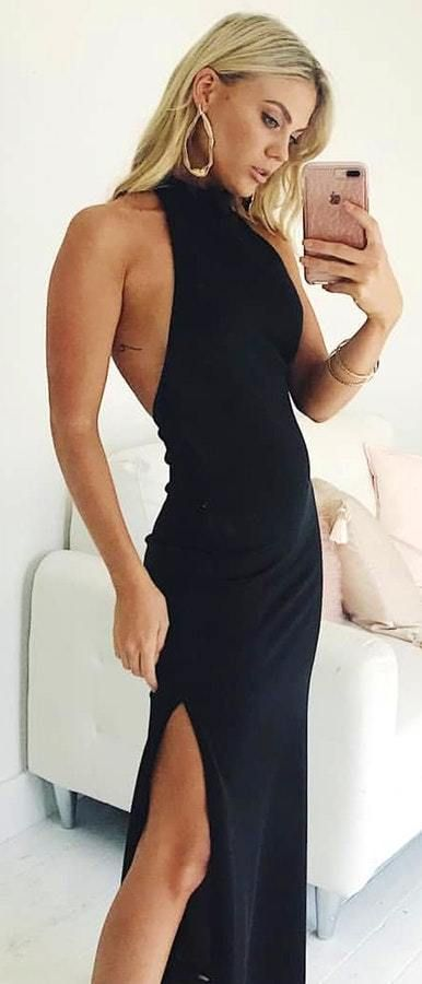 b1e93795ab5 Looking To Update Your Go-To  Summer Look  Try Halterneck Side-Slit  Dress.