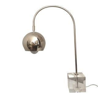 Check Out This Stunning Drexel Heritage Chrome Eyeball Lamp On Glass