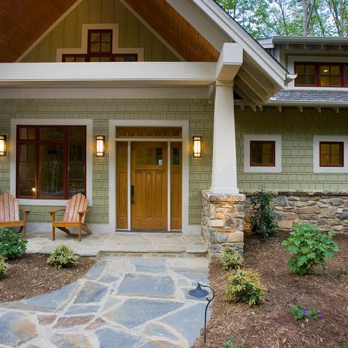 28 Inviting Home Exterior Color Ideas: Green Built, Sustainable Craftsman