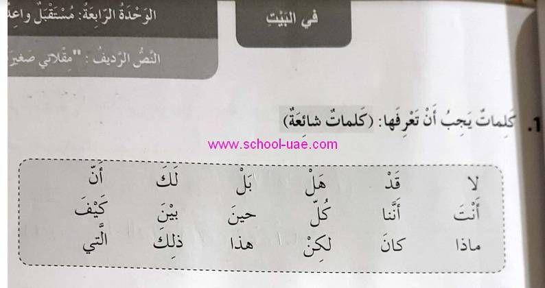 حل درس مقلاتى صغيرة مادة اللغة العربية الصف الرابع الفصل الثانى2020 Math School Math Equations