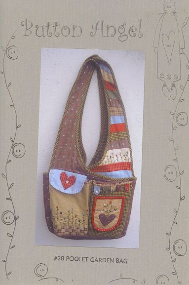 0907769f3 Button Angel bag | Quilts, Quilts, Quilts | Garden bags, Patchwork ...