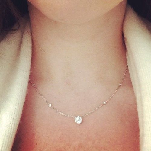 Every Girl Needs A Simple Diamond Necklace Littleadditions Diamond Necklace Simple Simple Necklace Simple Diamonds