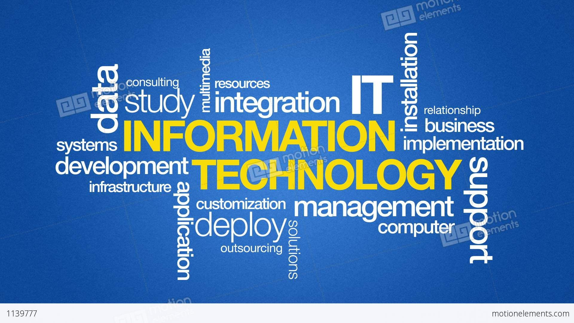 Information Technology Wallpaper Background