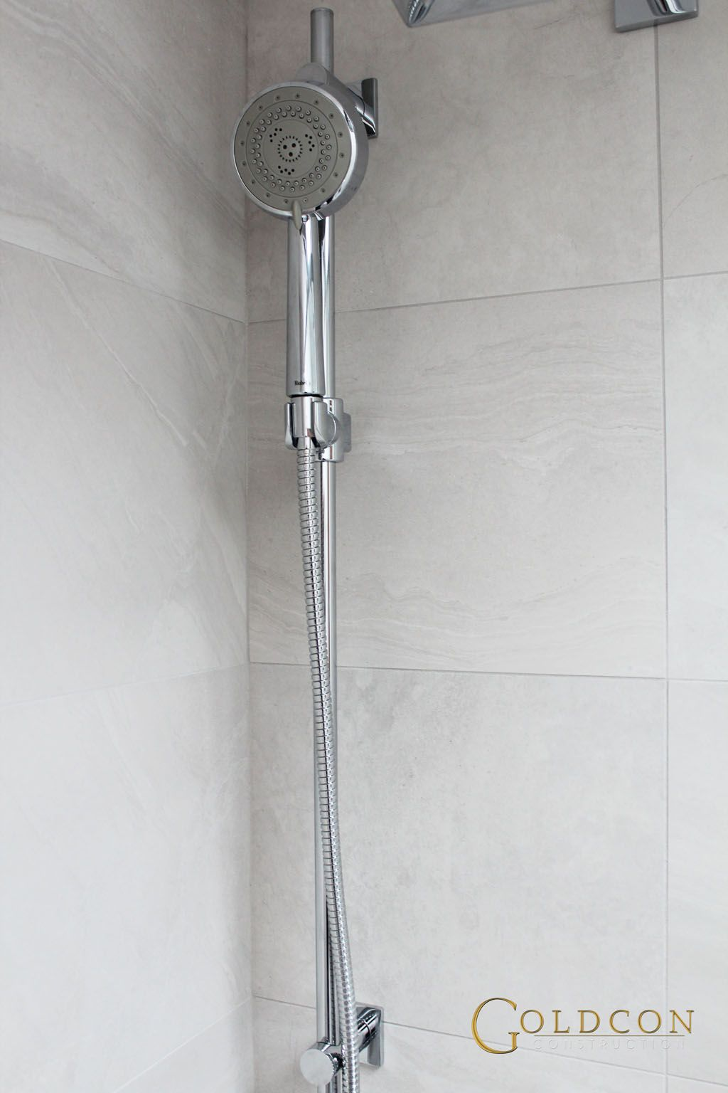 Beautiful bathroom renovation including custom shower base, white 60 ...
