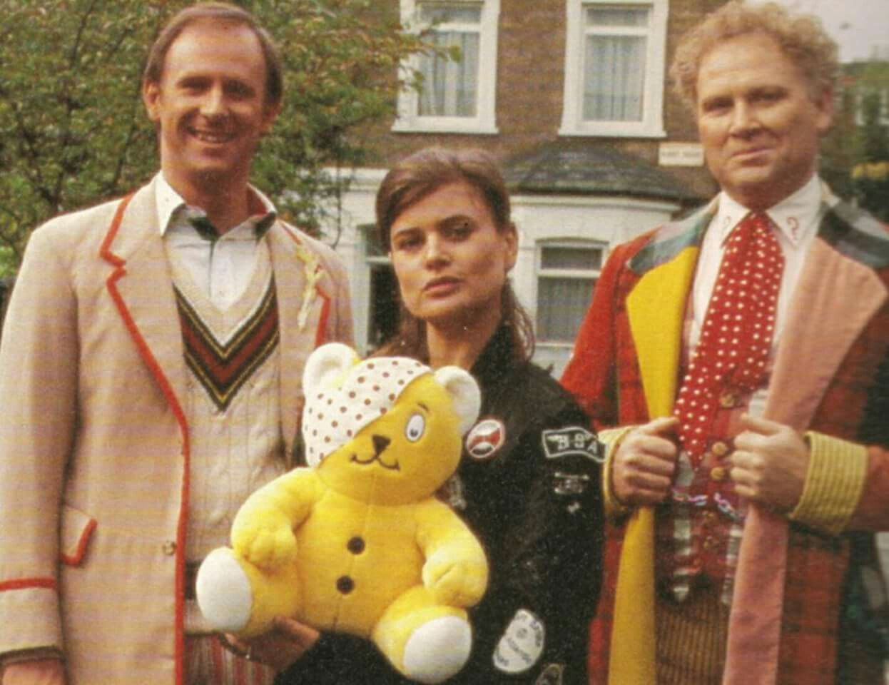 Rare Picture of the 5th & 6th Doctor in costume together. | Doctor ...