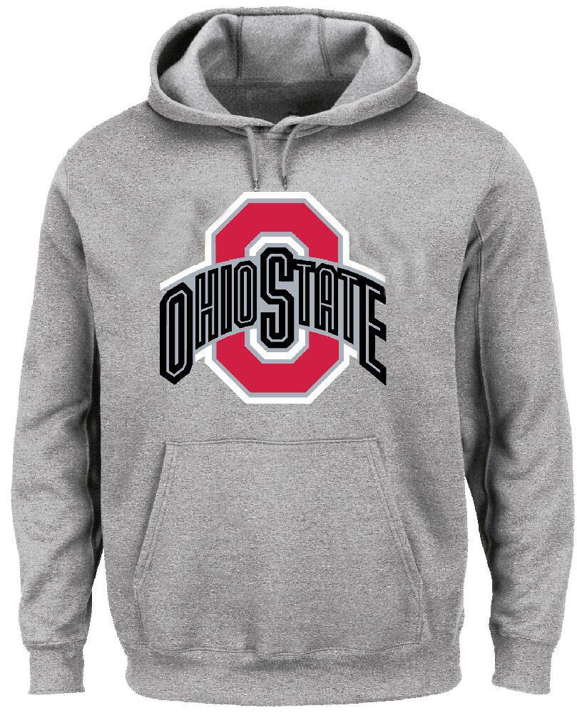 Ohio State Buckeyes Grey Victory Hoodie Sweashirt By J America Ohio State Hoodie Ohio State Sweatshirt Hoodies [ 1000 x 809 Pixel ]