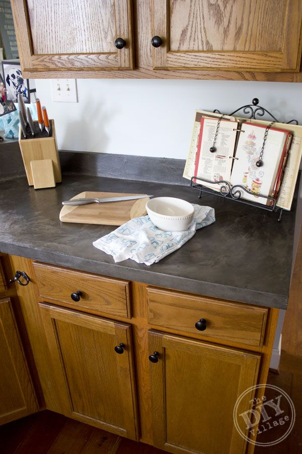 Faux Concrete Countertop Makeover THIS IS BEAUTIFUL