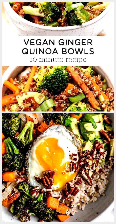 10-Minute Vegan Ginger Quinoa Bowl - Simply Quinoa 10-Minute Vegan Ginger Quinoa Bowl - Simply Quin
