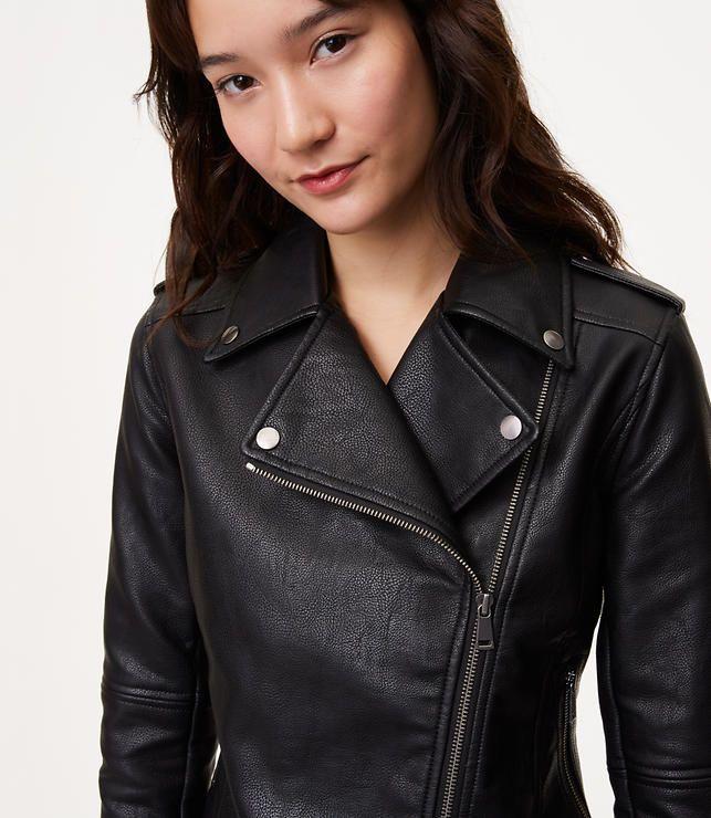f1bdfd4105 $130 | Faux Leather Motorcycle Jacket | LOFT | Vegan Fashion in 2019 ...