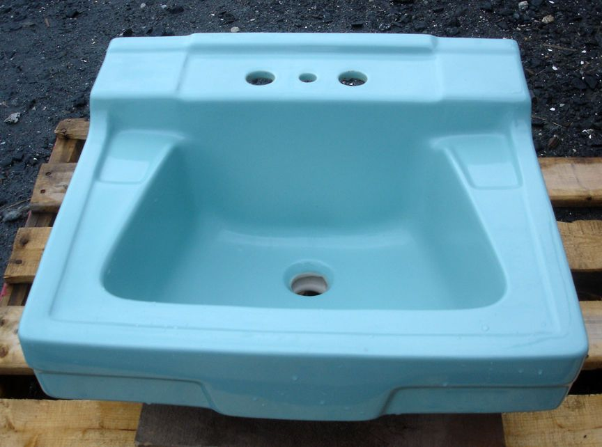 VINTAGE 1960\'s TURQUOISE GREEN GERBER BATHROOM SINK | Sinks ...