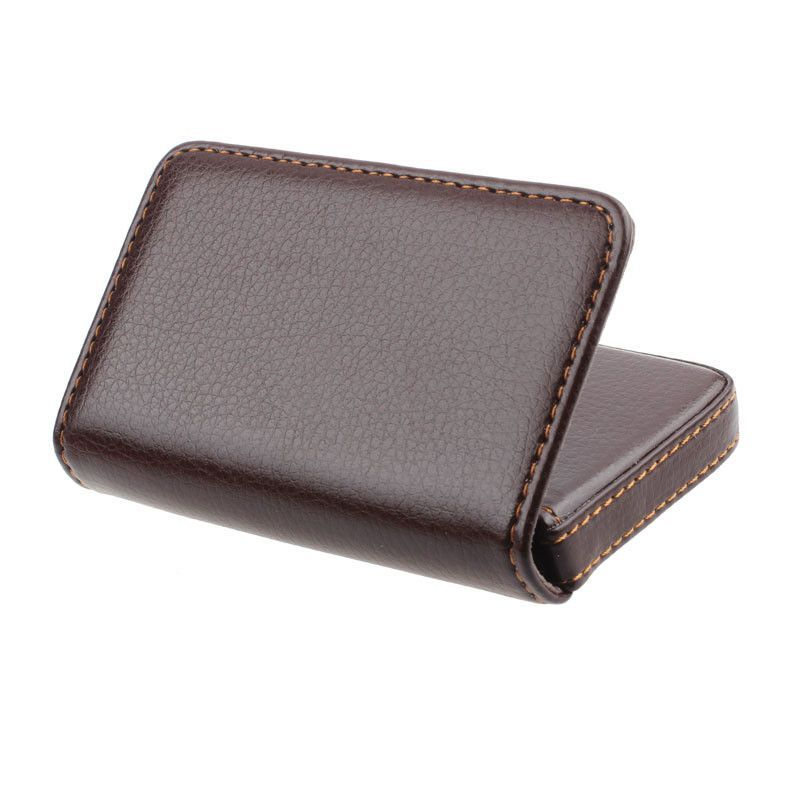 Brand new exquisite magnetic attractive card case unisex leather brand new exquisite magnetic attractive card case unisex leather business card case box holder for women reheart Image collections