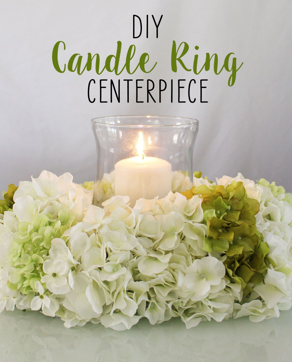 Diy candle ring centerpiece rings silk flowers