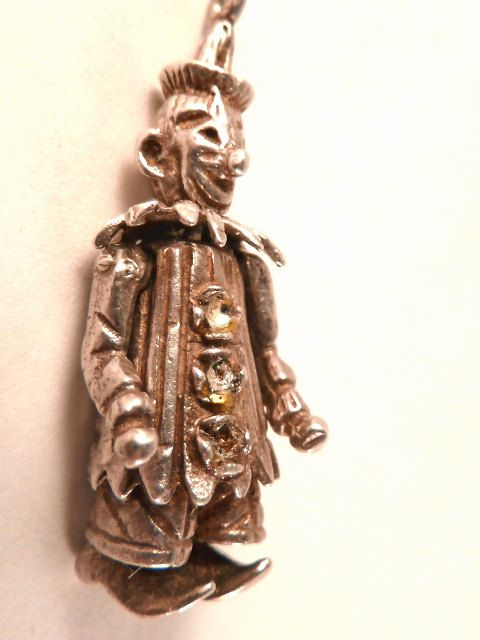 Old English Charm: Vintage English Sterling Silver Moving Circus Clown
